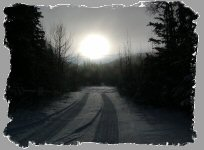 Road in wintertime Alaska
